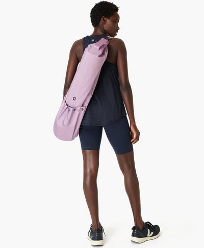 Yoga Mat Bag, Aster Purple | Sweaty Betty