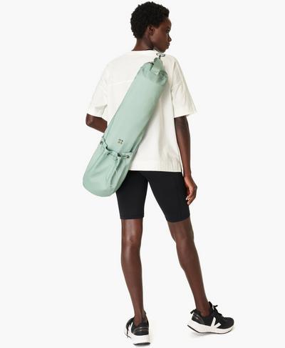 Yoga Mat Bag, Marina Green | Sweaty Betty