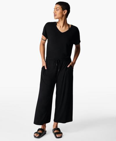Take It Easy Jumpsuit, Black | Sweaty Betty