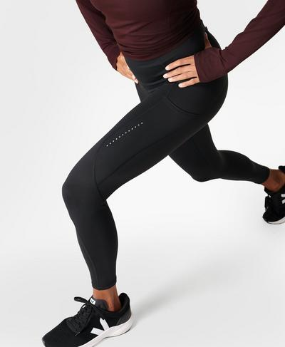 Eco Therma 7/8 Running Leggings, Black | Sweaty Betty