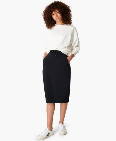 Explorer Pencil Skirt, Black | Sweaty Betty