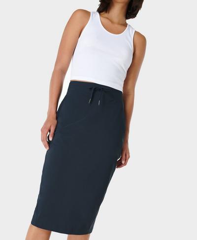 Explorer Pencil Skirt, Navy Blue | Sweaty Betty