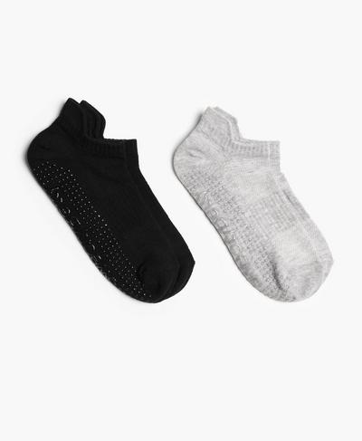 Rutschfeste Barre-Socken 2er-Pack, Black | Sweaty Betty
