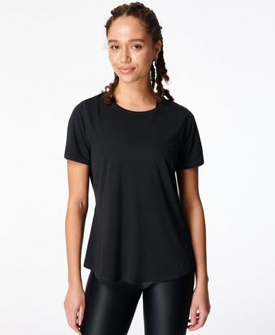 Energise Gym T-shirt, Black | Sweaty Betty