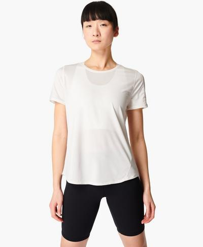 Energise Gym T-shirt, Lily White | Sweaty Betty