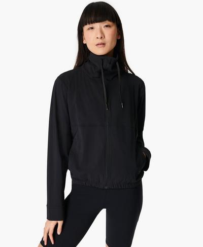 Explorer Zip Through Jacket, Black | Sweaty Betty