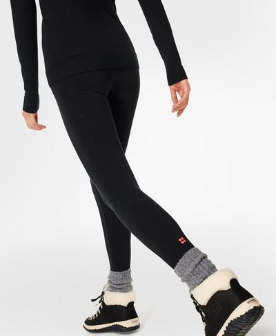 Betty Ski Base Layer 7/8 Leggings, Black   Sweaty Betty