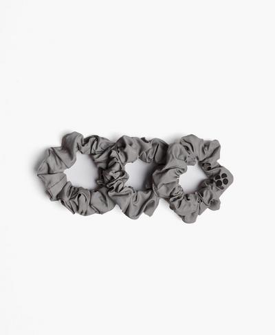 Scrunchie 3 Pack - Blue Format Reflective Print, Silver | Sweaty Betty