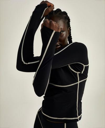 Sofia Training Rash Guard, Black | Sweaty Betty