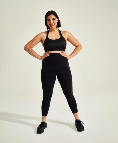 Storm Power Shine High-Waisted 7/8 Workout Leggings, Black | Sweaty Betty