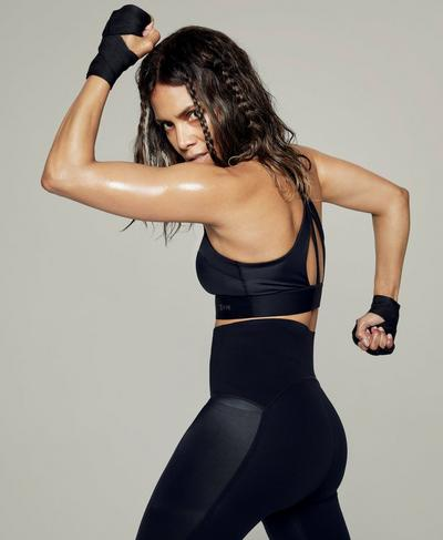 Storm Power Shine High-Waisted Workout Leggings, Black | Sweaty Betty
