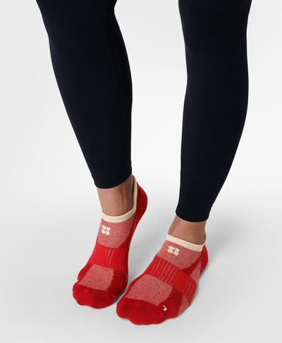 Technical Run Sock 2 Pack, Cardinal Red | Sweaty Betty