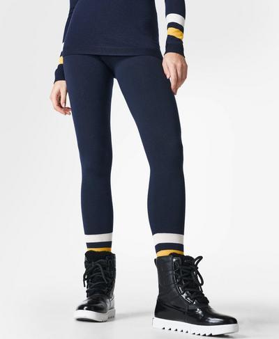 Betty Ski Merino Base Layer Leggings, Navy Blue | Sweaty Betty