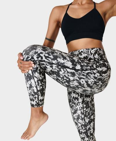 All Day Leggings, Black Blurred Abstract Print | Sweaty Betty
