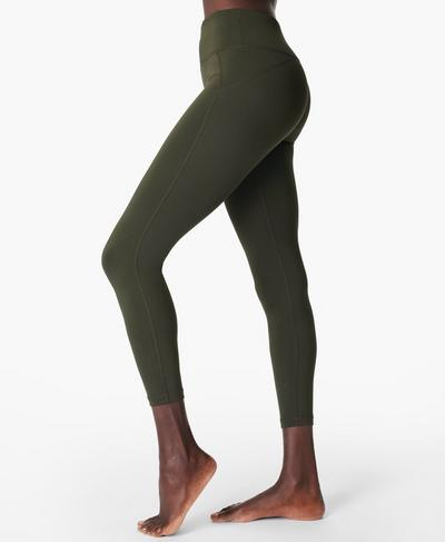All Day 7/8 Gym Leggings, Dark Forest Green | Sweaty Betty