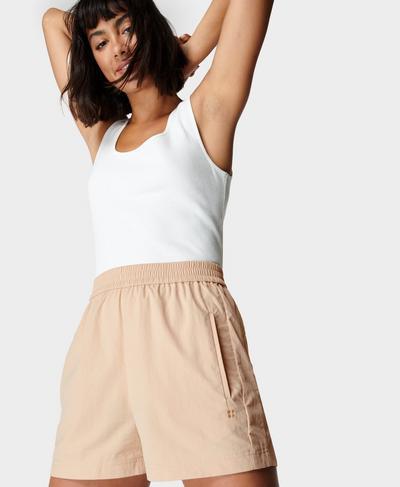 Agile Shorts, Stone Beige | Sweaty Betty