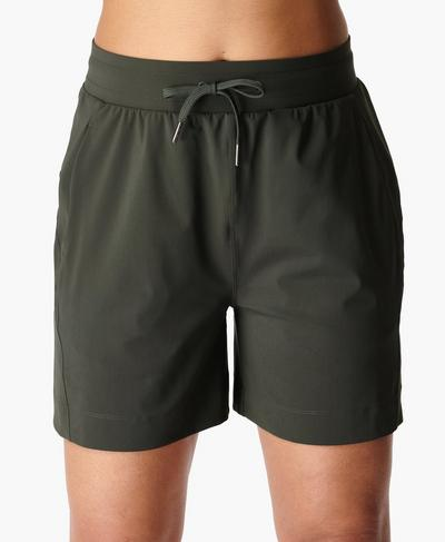 Explorer Shorts, Dark Forest Green | Sweaty Betty