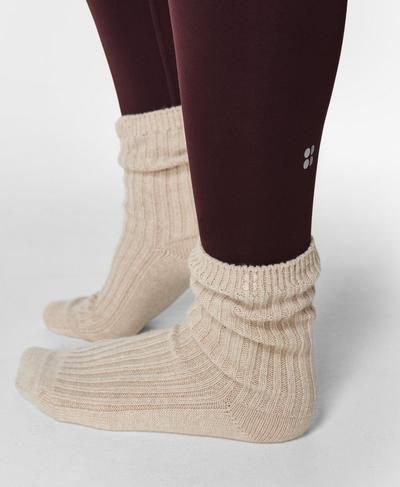 Cashmere Lounge Socks, Oatmeal | Sweaty Betty