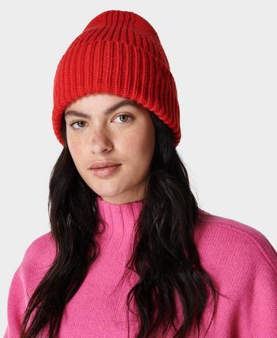 Soft Rib Beanie, Pentas Red | Sweaty Betty
