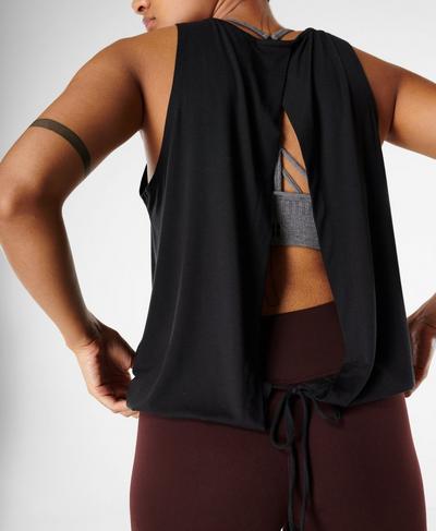 Freeflow Open Back Vest, Black | Sweaty Betty