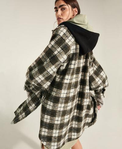 Rhea Overshirt, Green Plaid Jacquard | Sweaty Betty