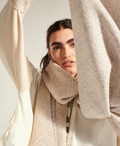 Alia Knitted Scarf, Quartz Beige | Sweaty Betty