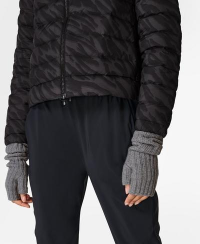 Cashmere Fingerless Gloves, Light Grey | Sweaty Betty