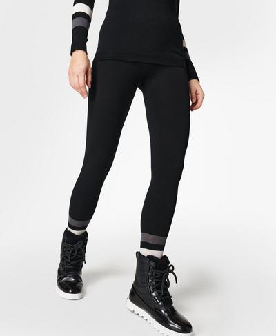 Betty Ski Merino Base Layer Leggings, Black | Sweaty Betty