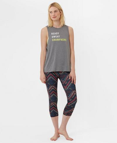 Flow Workout Vest, Charcoal Marl | Sweaty Betty