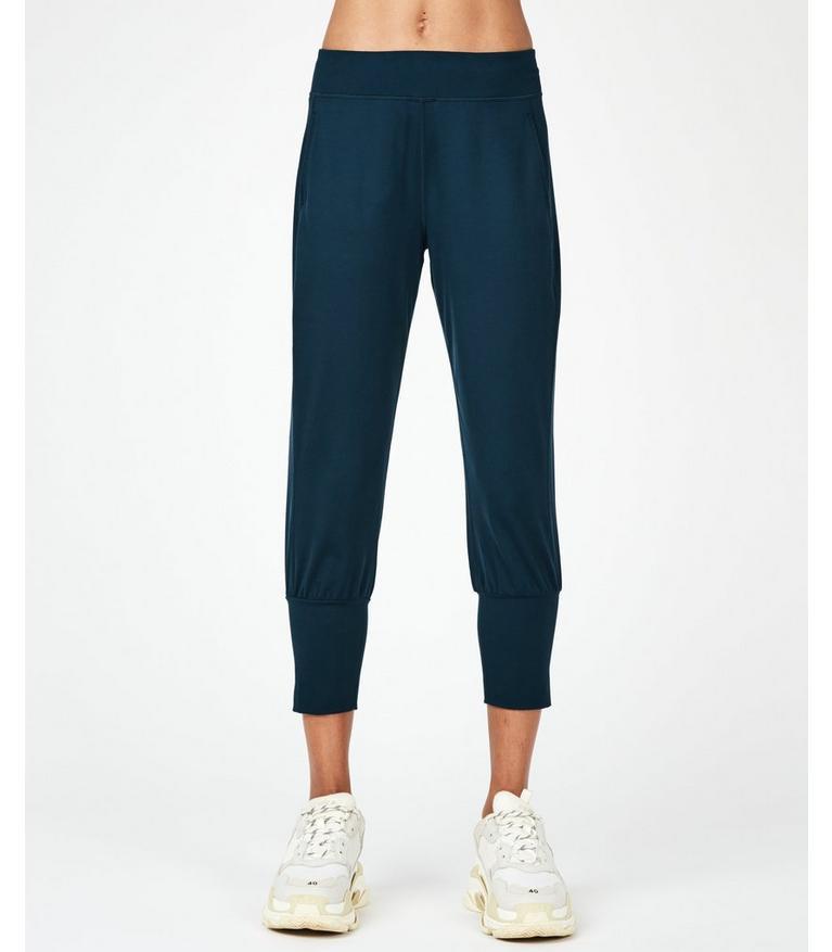 elegant and sturdy package new images of latest design Garudasana Yoga Capris - Beetle Blue | Women's Trousers ...