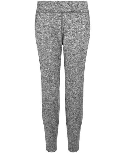 Gary Cropped Yoga Pants, Black Marl | Sweaty Betty