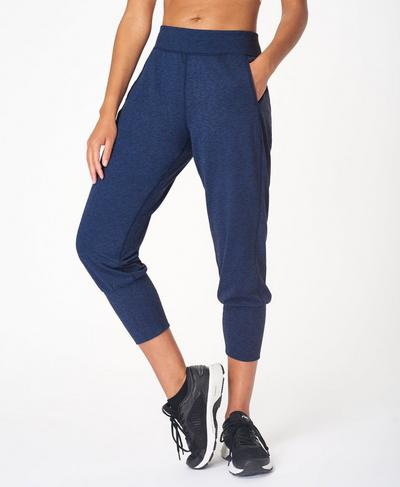 Gary Cropped Yoga Pants, Blue Quartz Marl | Sweaty Betty