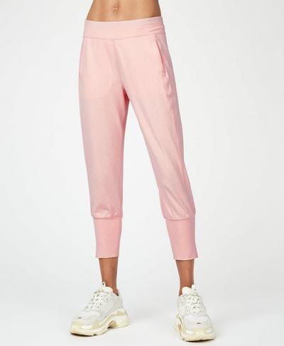 Garudasana Cropped Sweatpants, Liberated Pink | Sweaty Betty