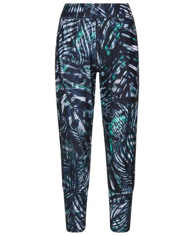 Garudasana Cropped Yoga Pants, Beetle Blue Hot to Croc Print | Sweaty Betty