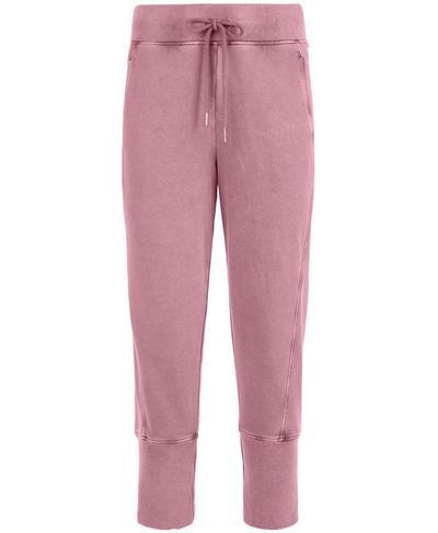 Gary Cropped Sweatpants, Heather Rose Pink | Sweaty Betty