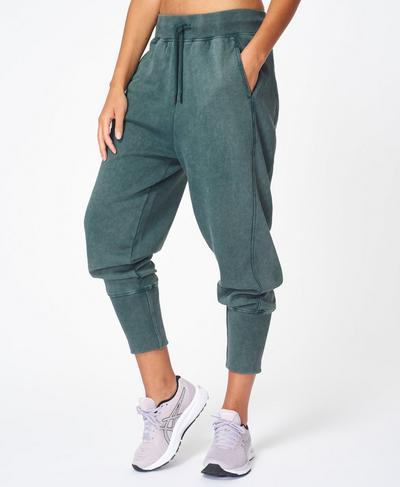 Gary Cropped Sweatpants, June Bug Green | Sweaty Betty