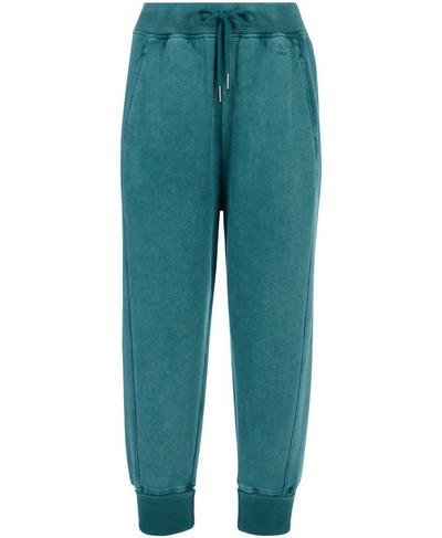 Gary Cropped Sweatpants, June Bug Green   Sweaty Betty