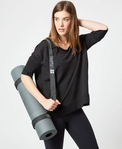 Yoga Mat Carry Strap, Arctic Blue | Sweaty Betty