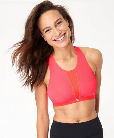 High Intensity Sports Bra, Lipstick Red | Sweaty Betty