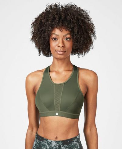 High Intensity Sports Bra, Sage Green   Sweaty Betty
