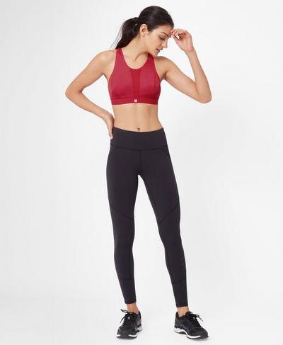 High Intensity Run Bra, Scarlet Red | Sweaty Betty