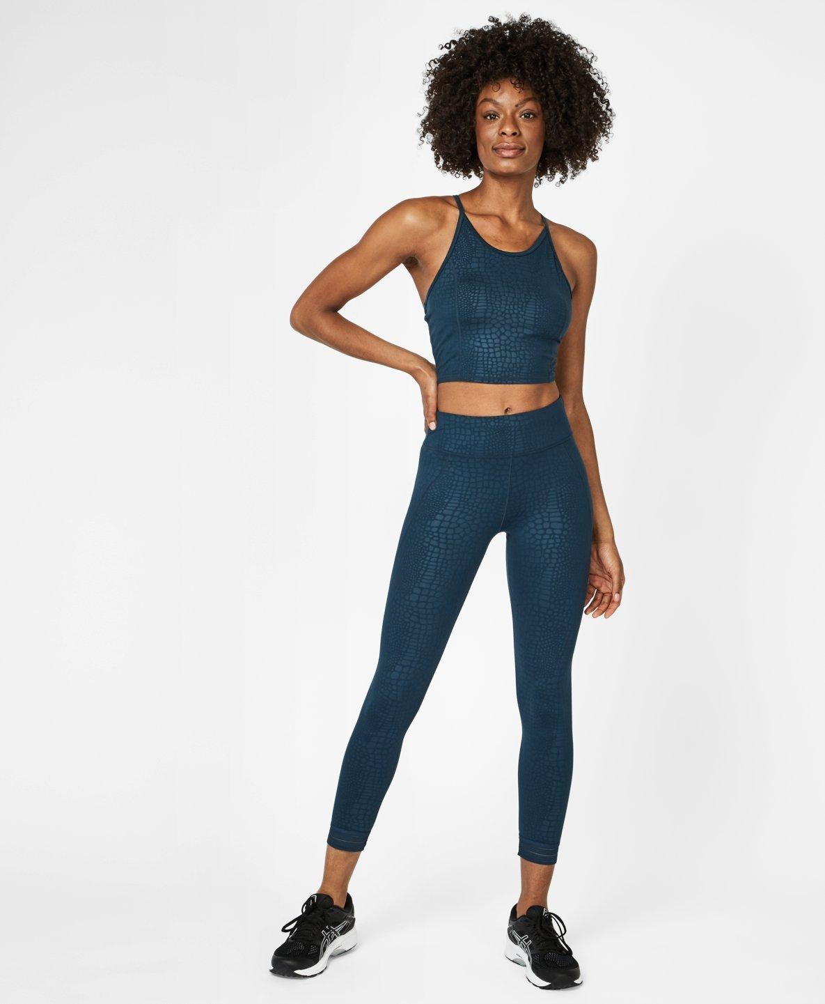 Embossed Blue Croc Print Set,  | Sweaty Betty
