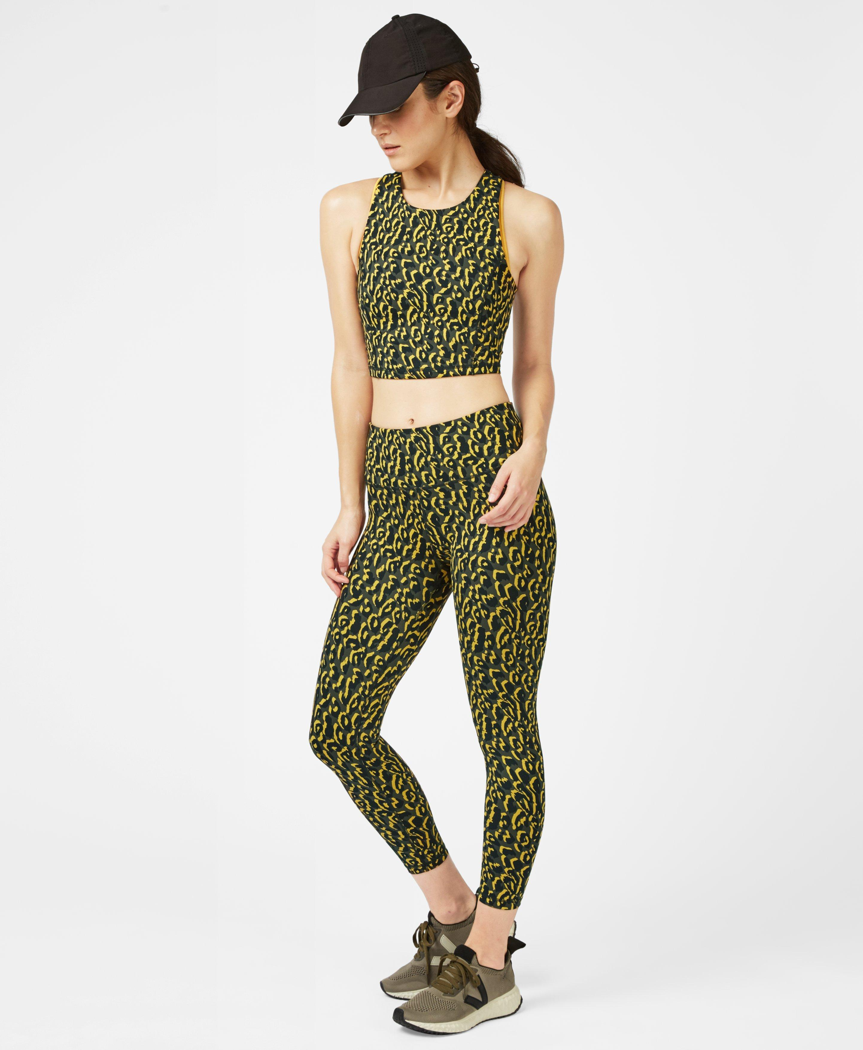 Jacquard Turmeric Yellow Leopard Print Set,  | Sweaty Betty