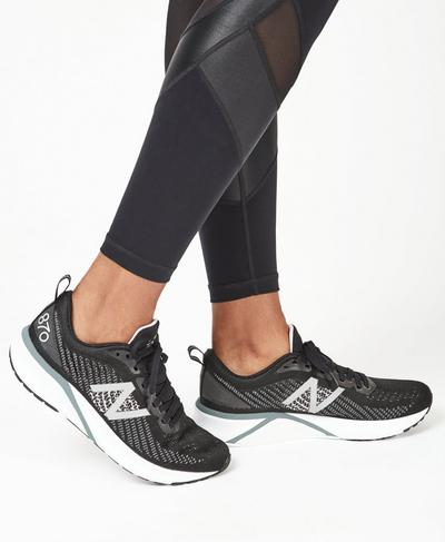 870 New Balance Running Trainer, Black | Sweaty Betty