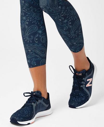 New Balance x Sweaty Betty Exclusive Sneakers, Beetle Blue Painted Paisley   Sweaty Betty