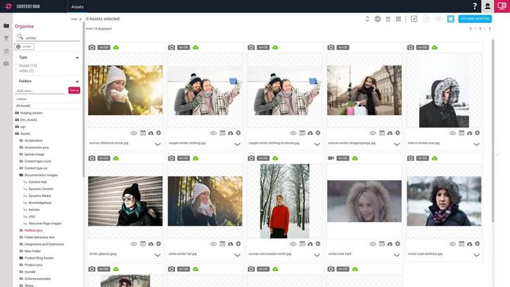 Searching for images with names or labels containing winter
