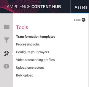 The Content Hub tools section
