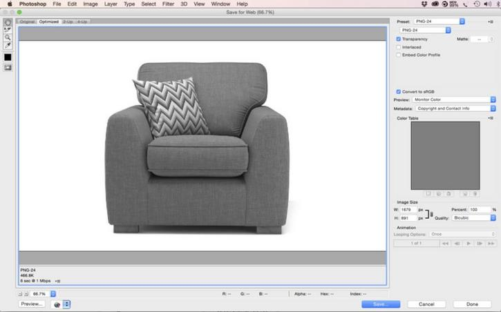 Creating the grayscale image