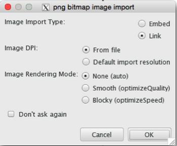 Choosing image import options