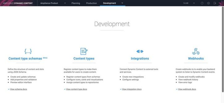 Users with a developer persona can create, edit and archive slots and access the features in the developer tab